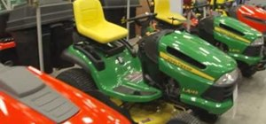 Tune up a riding lawnmower with Lowe's
