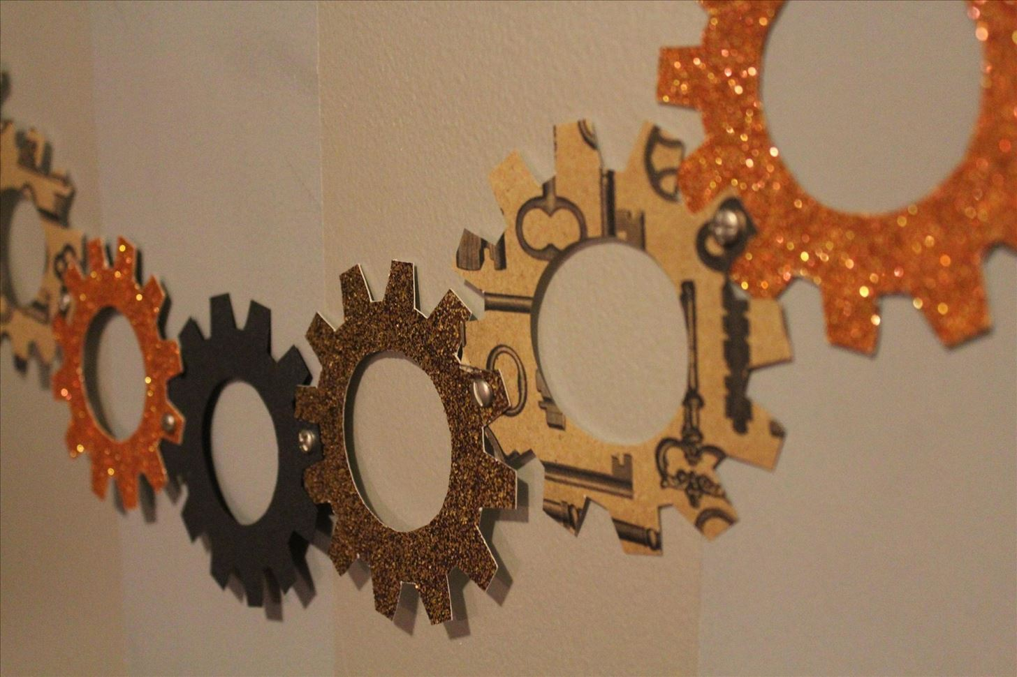 steampunk your halloween decorations with these diy interlocking paper gears steampunk rd wonderhowto - Paper Halloween Decorations