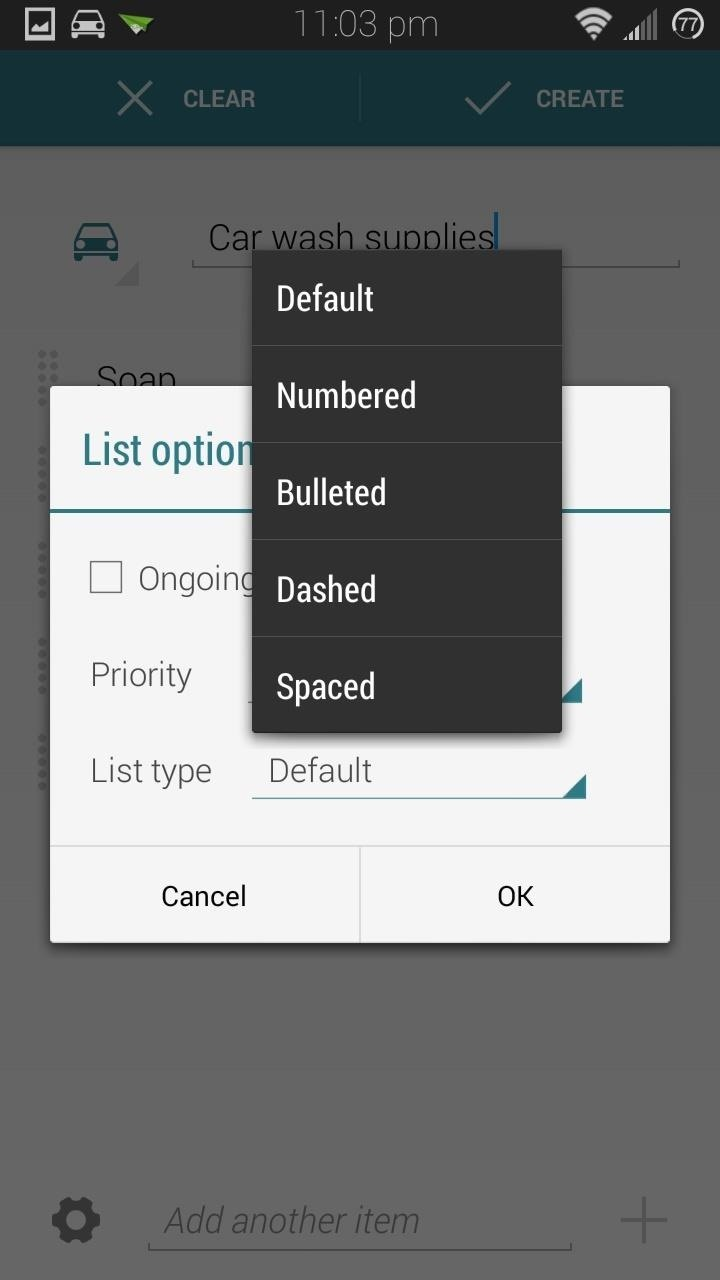 how to delete reminders on android