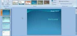 Add a background to your present in Powerpoint 2007