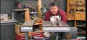 Stabilize your table saw