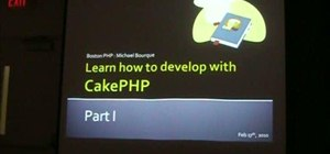 Use CakePHP to create and develop websites