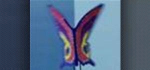 Make a butterfly puppet
