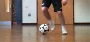 Do a pedalada step over soccer move like Robinho and Ronaldinho