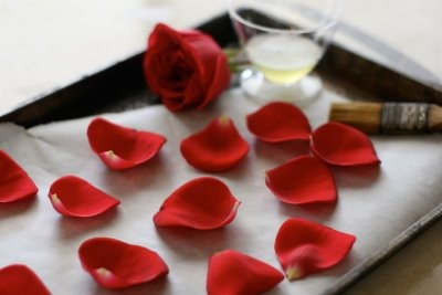 HowTo: Lovely Candied Rose Petal Cake Toppers