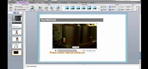 Embed a video in a slide in Microsoft PowerPoint Mac 2011