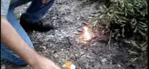 Making fire with a cotton ball and vaseline