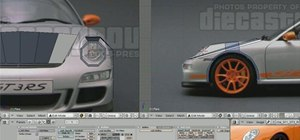 Create a 3D model of a Porsche 911 GT3 RS in Blender 2.5