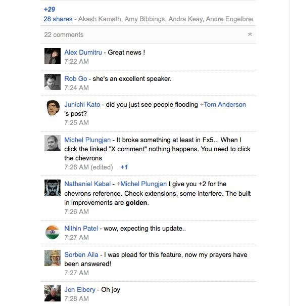 Google+ Finally Improves Comments