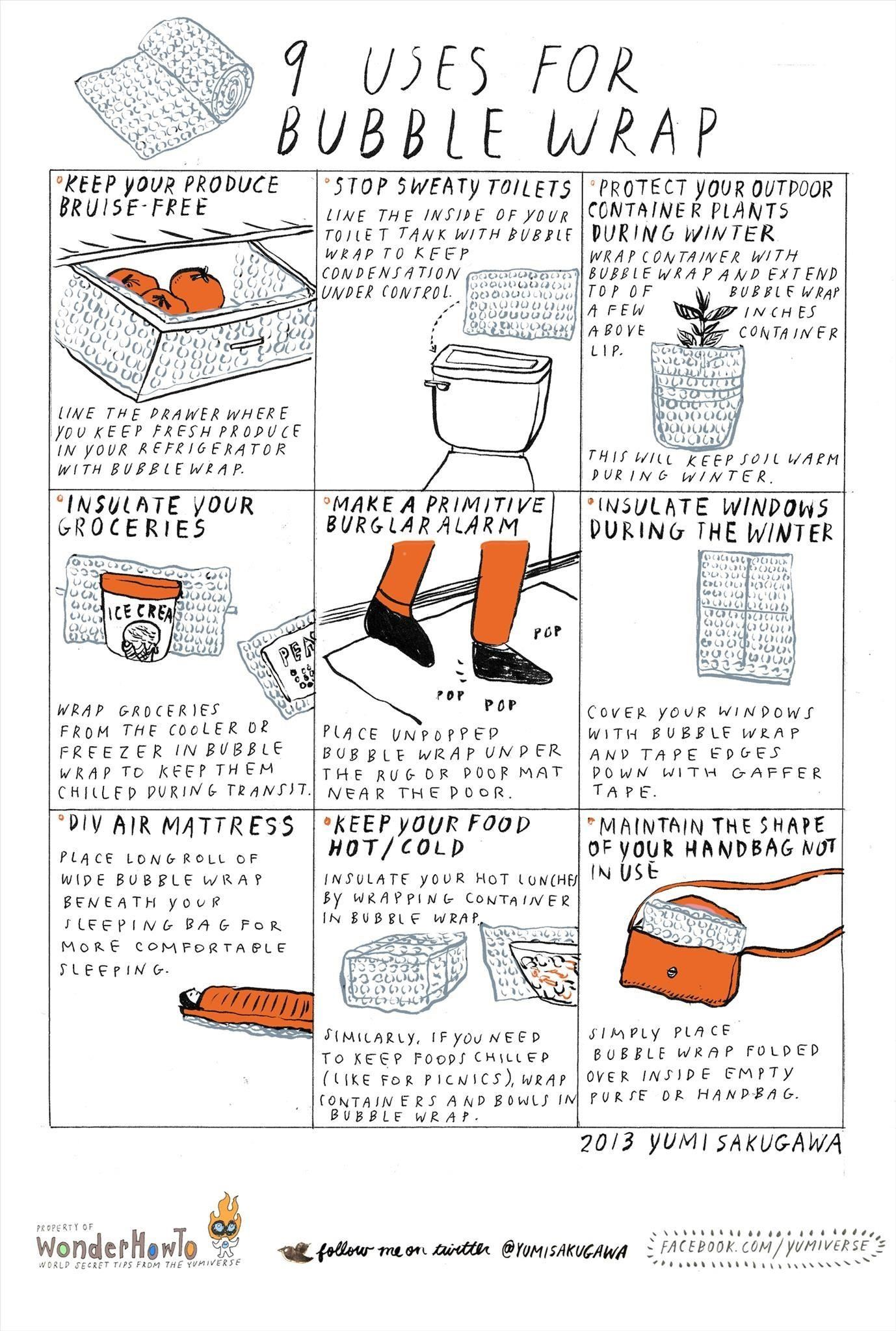 9 Poppin' Uses for Bubble Wrap