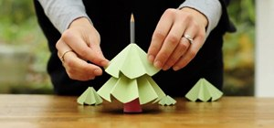 Make a Christmas Tree Out of Recycled Paper
