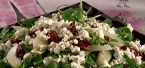 Make Arugula, Pear, & Gorgonzola Salad with Sandra Lee