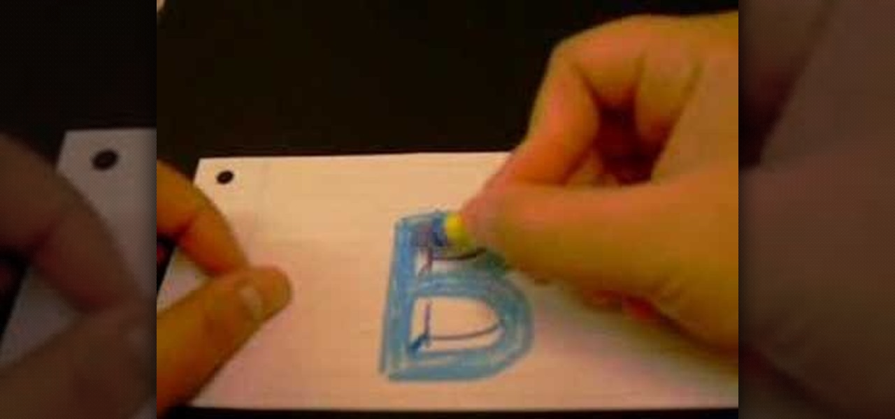 how to draw the letter b as a 3d block letter drawing illustration wonderhowto