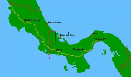 Where Bocas is in Panama and greater Central America