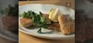 Make fried fish with matzo meal