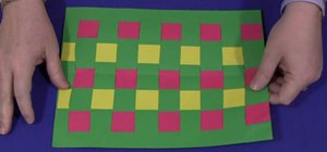 Do construction paper weaving with your kids