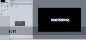 Shock your text using Motion 4 editing software