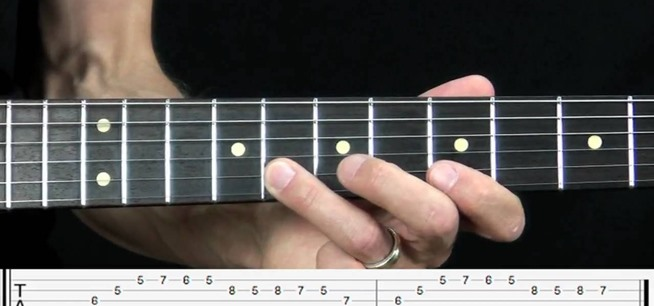 Think, electric guitar lick