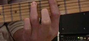 Play ten basic jazz chord grips on guitar