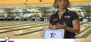 Practice good lane courtesy when bowling
