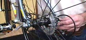 Remove & install a rear bicycle wheel