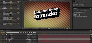 Render in Adobe After Effects CS4 or CS5