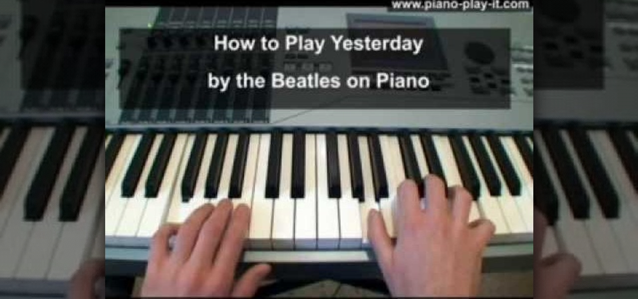 YESTERDAY CHORDS by The Beatles