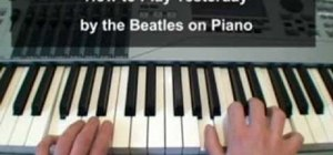 "Play ""Yesterday"" by the Beatles on a keyboard"
