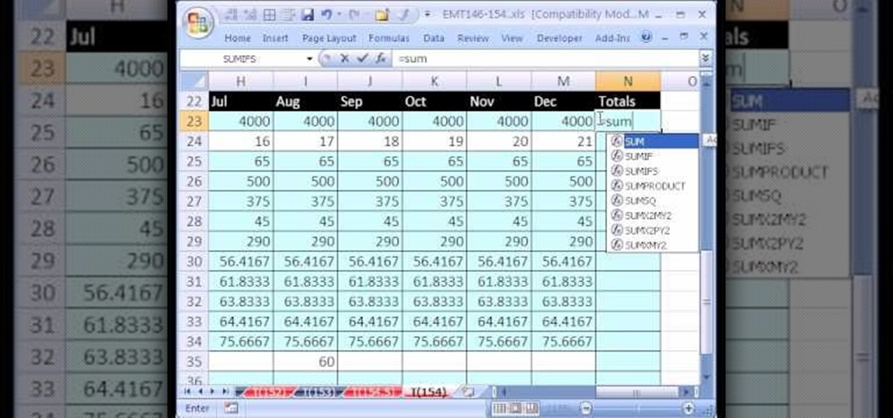 how to create a personal budget based on past data in excel