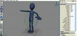 Work an Advanced Rig for character animation in Maya