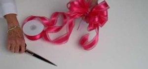 Tie a ribbon bow