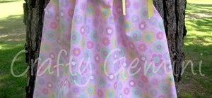 Transform a pillowcase into a cute dress