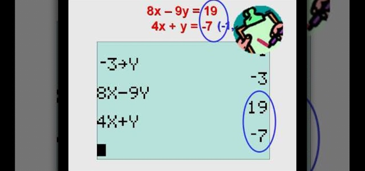 How to Solve a linear equation set with a graphing calculator « Math ...