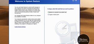 Start the System Restore Tool from the Microsoft Windows command prompt