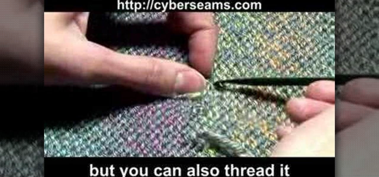 Loose End Stitches Knitting : How to Weave in loose ends in knitting   Knitting & Crochet :: WonderHowTo