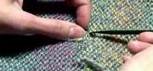 Weave in loose ends in knitting