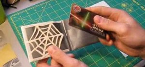 Make a web credit card holder with duct tape