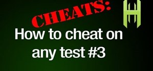 Cheat on a test with an eraser