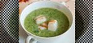 Make a creamy asparagus, spinach and leek soup