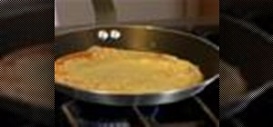 Cook crepes on a non-stick skillet
