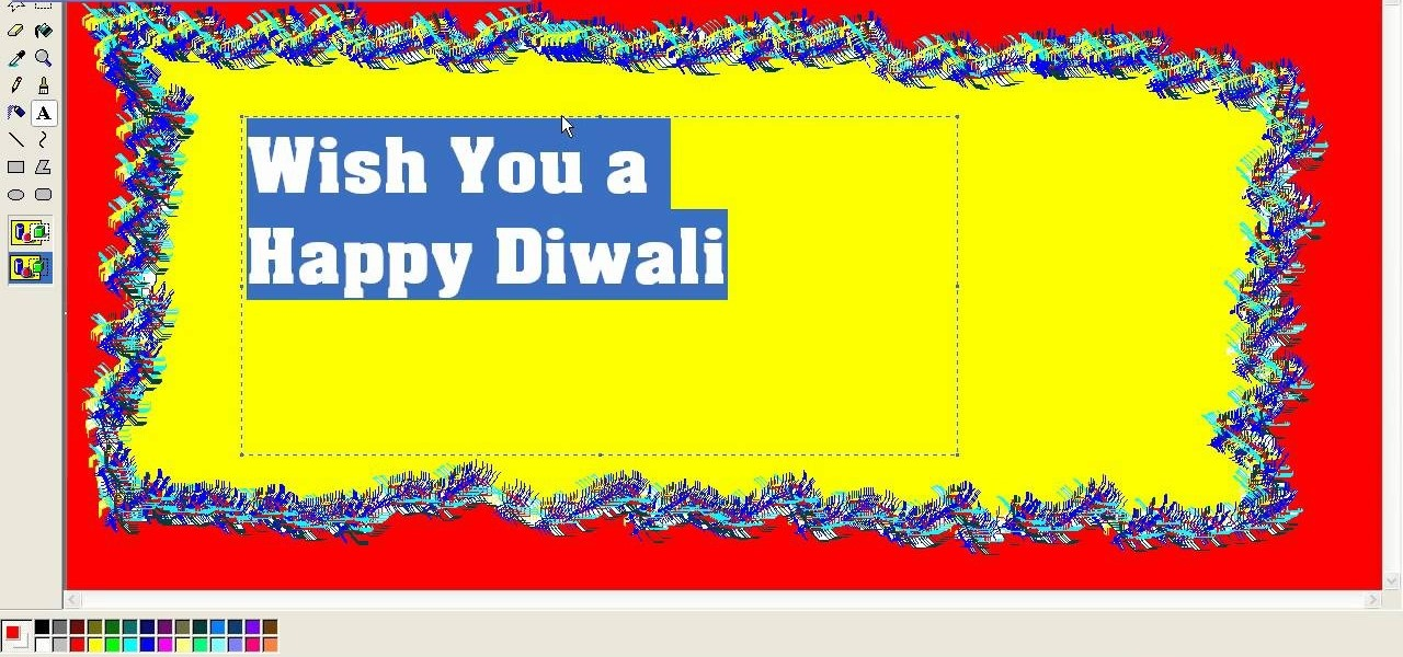 How to create a diwali festival of lights greeting card in how to create a diwali festival of lights greeting card in microsoft paint software tips wonderhowto m4hsunfo