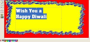 Create a Diwali (festival of lights) greeting card in Microsoft Paint
