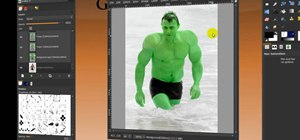 Turn someone into Hulk in GIMP
