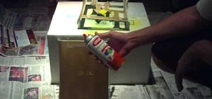 Paint your XBox 360 console case with spraypaint
