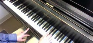 "Play an easy version of ""Fireflies"" by Owl City on piano"
