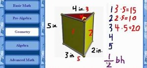 Calculate the surface area of a triangular solid in geometry