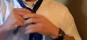 Use the King George knot to tie a tie