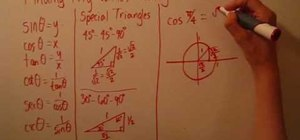 Use a unit circle to find trig values