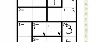Solve a simple 4x4 KenKen puzzle
