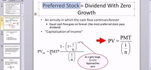 Calculate the value of a preferred stock in Microsoft Excel